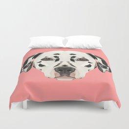 Dalmatian // Pink  Duvet Cover