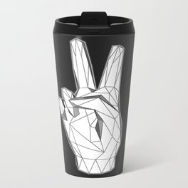 Geometric Peace sign Metal Travel Mug