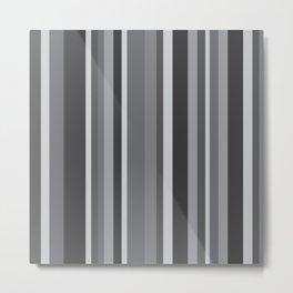 Grey Stripes Metal Print