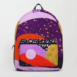 Terrazzo galaxy purple orange gold Backpack