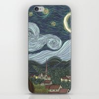 starry night iPhone & iPod Skins featuring starry night by Justin McElroy