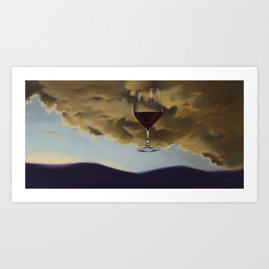 Red Overhead I Art Print