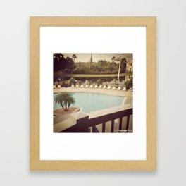 Balcony Pool View Framed Art Print