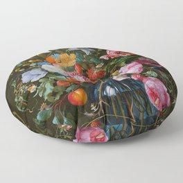 Vase of Flowers II Jan Davidsz de Heem Floor Pillow
