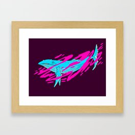 Trippy Whale Framed Art Print