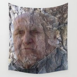 Head in the trunk Wall Tapestry