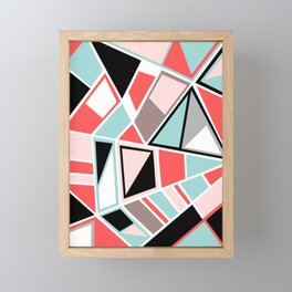Abstract #534 Facets Framed Mini Art Print
