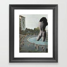 Pink Slip Framed Art Print