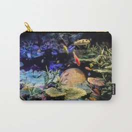 Brain Coral and Bright Colours Carry-All Pouch
