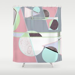 Italian 80's scandinavian style Shower Curtain