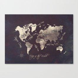 world map 18 Canvas Print