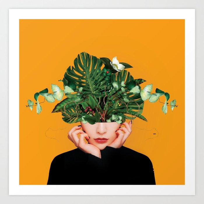 Lady Flowers Art Print By Linco7n Society6