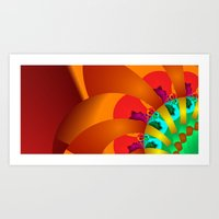 time for fractals -7- Art Print