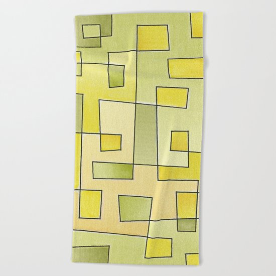 "Proto pattern n 2 ""fresh lemonade"" Beach Towel"