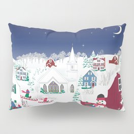 Christmas carolers in the country Pillow Sham
