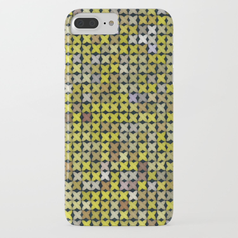 wholesale dealer f9d32 ed149 Yellow Cross Stitch iPhone Case