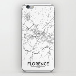 Minimal City Maps - Map Of Florence, Italy. iPhone Skin