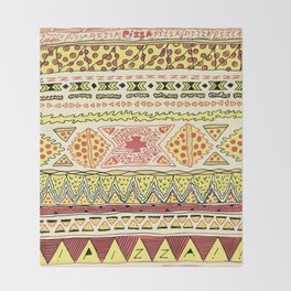 Pizza Pattern Throw Blanket