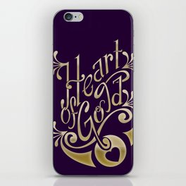 Heart of Gold - wording only iPhone Skin