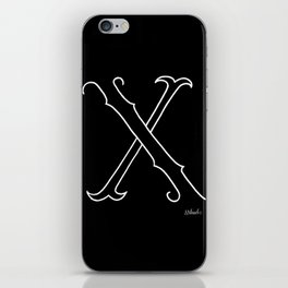 X- Letter Colletion Black iPhone Skin