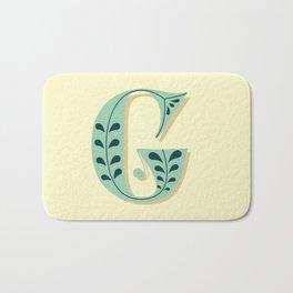 Alphabet Drop Caps Series- G Bath Mat