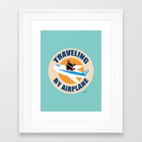 airplane Framed Art Prints featuring Airplane by BATKEI