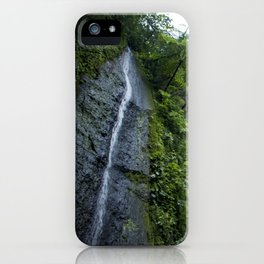 Thin Waterfall Cascading in the Rainforest of the Chocoyero-El Brujo Nature Reserve in Nicaragua iPhone Case