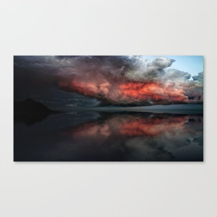 Red cloud reflect Canvas Print