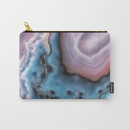 Pink and Blue agate Carry-All Pouch