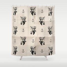 A hard night Shower Curtain