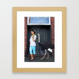 Rein It In - Ostrich Oda Framed Art Print