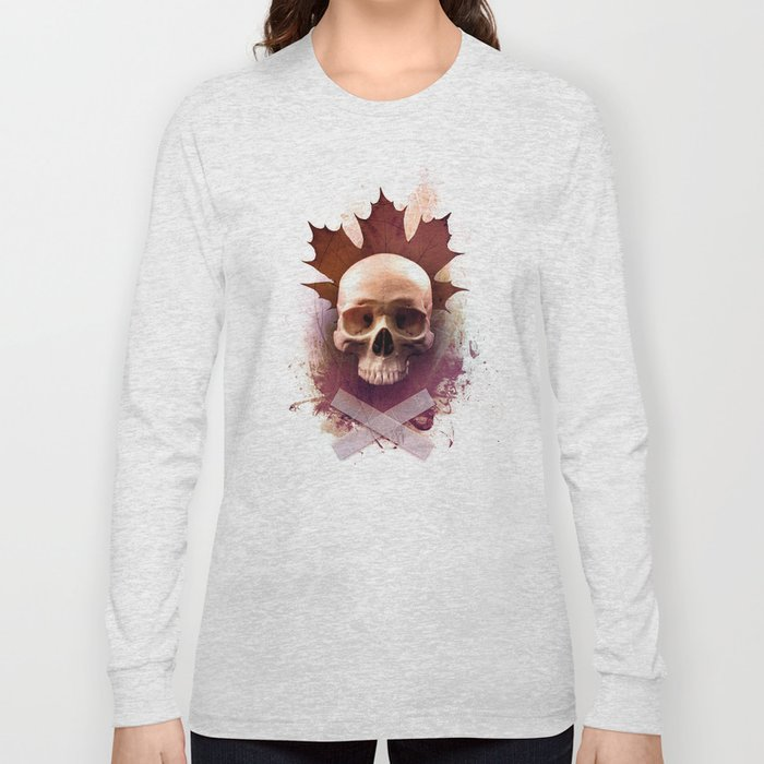 Skull and Leaf Long Sleeve T-shirt