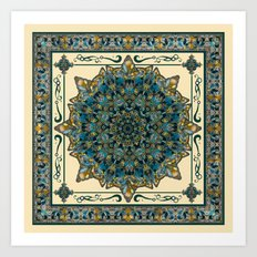 Stained Glass Mandala 2 Art Print