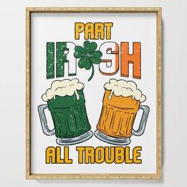 St Patricks Day Party Shirt Shamrock Beer Gift Idea Light Serving Tray