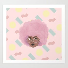 Bubblegum Girl Art Print