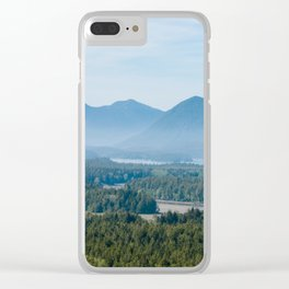 Misty Valley in Tofino - BC, Canada Clear iPhone Case