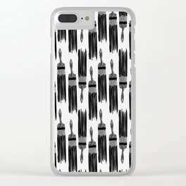 The Old Minimalistic Paint Brush Clear iPhone Case