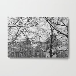 Winter Scenic of Castle Street, Lancaster. Metal Print