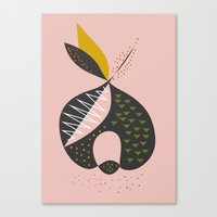 apple Canvas Prints featuring Apple by FLATOWL