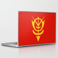gundam Laptop & iPad Skins featuring Zeon by Vipes