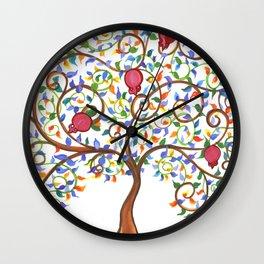 Pomegranate Tree Wall Clock