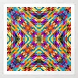 tatiana - bright vivid pattern with southwest vibe Art Print