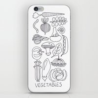 vegetables iPhone & iPod Skins featuring Vegetables by Eva Shorey