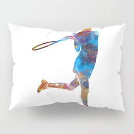 Woman tennis player 03 in watercolor Pillow Sham