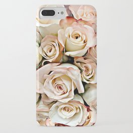 Delicate Peach Roses iPhone Case