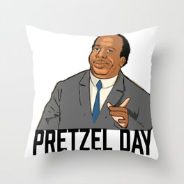 Pretzel day Stanley Throw Pillow
