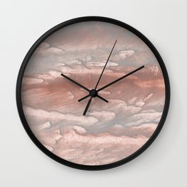 Dark gray nebulous wash drawing design Wall Clock