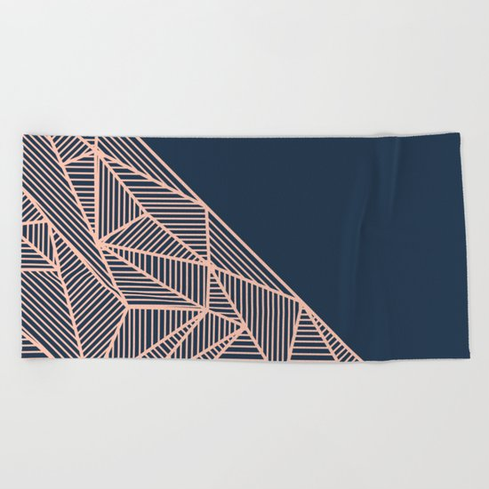 B Rays Geo 1 Beach Towel