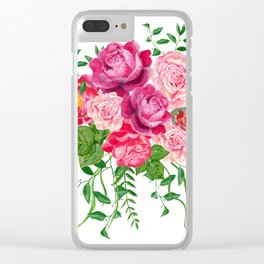 Red roses in a bouquet Clear iPhone Case