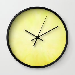 Sunny Yellow Wash of Color Wall Clock